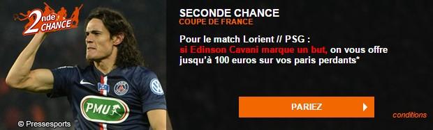 Seconde Chance sur Lorient/PSG sur PMU.fr
