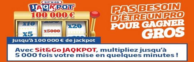 Les Sit&Go Jaqkpot sur PMU Poker