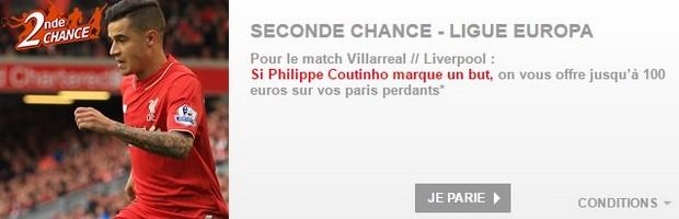 Villarreal-Liverpool : Seconde Chance sur PMU