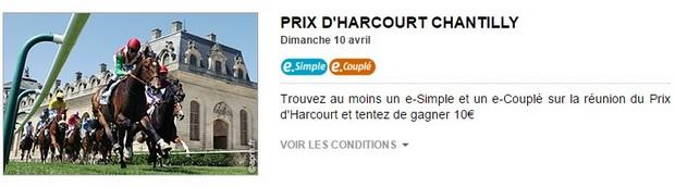 Le Prix d'Harcourt à Chantilly avec PMU turf