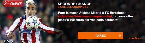 Atletico/Barcelone : Seconde Chance PMU