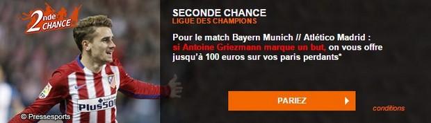 100 euros remboursés par PMU si Griezmann marque contre le Bayern