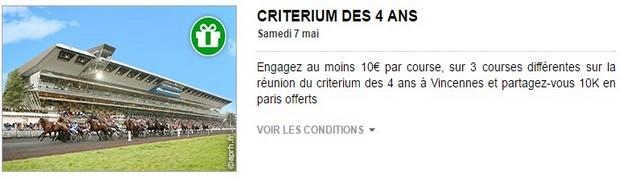 Le critérium des 4 ans à Vincennes sur PMU turf