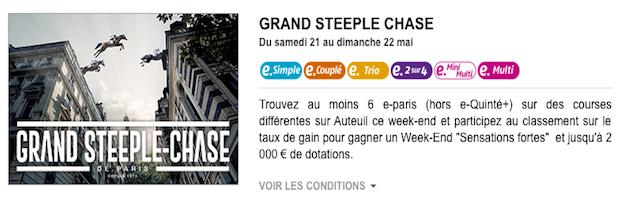 PMU Turf vous offre un séjour Sensations Fortes à Paris et jusqu'à 2.000 € de bonus