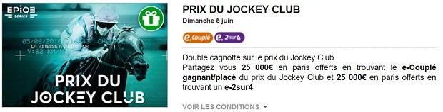 Jackpot de 50.000 € à partager sur PMU pour le prix du Jockey Club de Chantilly