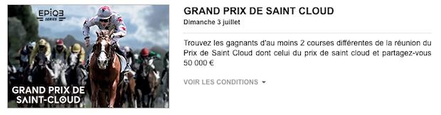 Pariez sur le Grand Prix de Saint-Cloud le 3 juillet sur PMU