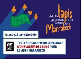 Partez à Marrakech avec PMU pour participer au WPTN