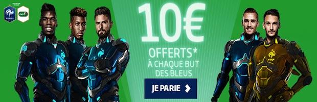 PMU Sport vous offre 10 euros de bonus à chaque but des Bleus durant l'Euro 2016