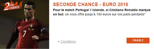 PMU Portugal/Islande Seconde chance