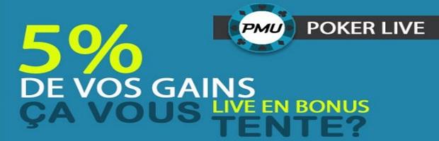Gagnez jusqu'à 3.000 euros avec PMU lors des qualifications aux événements live poker