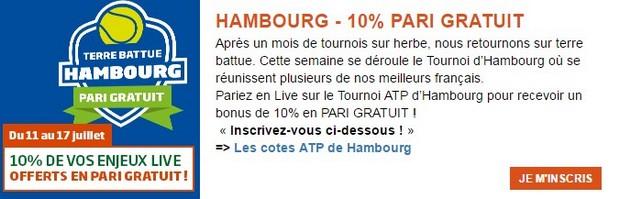 PMU tournoi ATP d'Hambourg