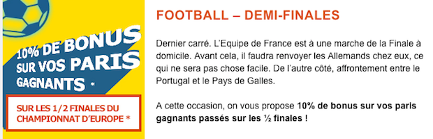 Pariez avec PMU.fr sur les demi-finales de l'Euro 2016