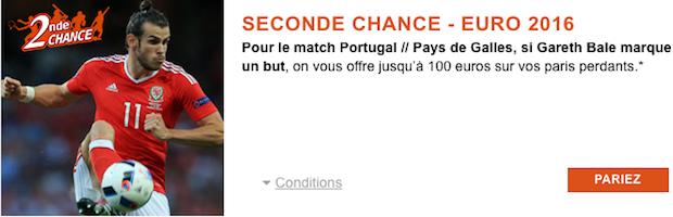 Seconde Chance de PMU pour la rencontre Portugal/Pays de Galles à l'Euro 2016