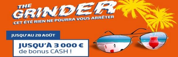 The Grinder sur PMU Poker du 22 juillet au 28 août