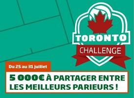 Toronto Challenge sur PMU avec 5.000 euro à partager entre le 25 et le 31/07