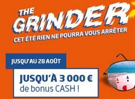 3.000€ à gagner sur PMU Poker avec The Grinder
