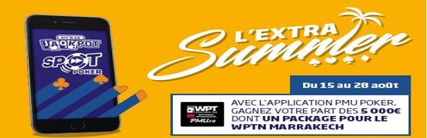 """Offre """"Extra Summer"""" sur PMU du 15 au 28 août"""
