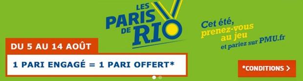 Gagnez 5 € de paris gratuits sur PMU pour les JO de Rio