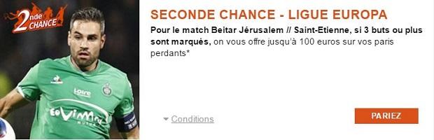 Promo Seconde Chance sur PMU pour Beitar Jérusalem/Saint-Etienne