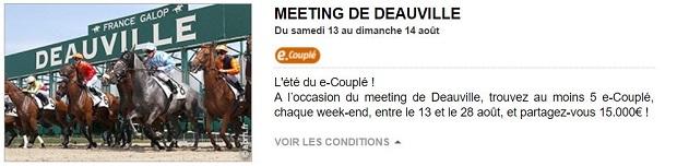 Pariez sur le meeting de Deauville avec PMU du 13 au 28 août