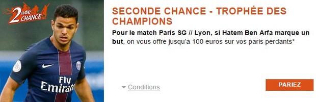 PSG-Lyon : misez en Seconde Chance avec PMU