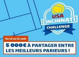 Bonus de 5.000 € à partager sur PMU lors de l'USA Cincinnati Challenge