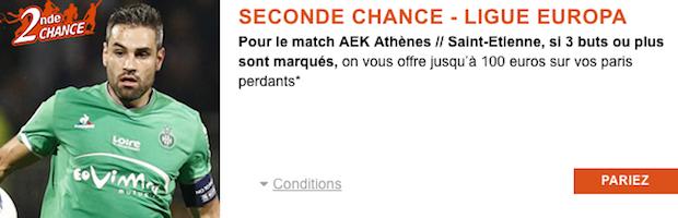 Seconde Chance avec PMU sur AEK/ASSE