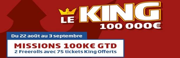 Raflez l'un des 75 tickets King avec PMU