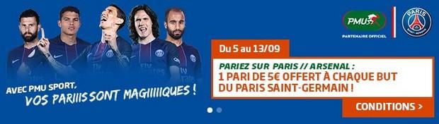 Misez avec PMU sur Paris/Arsenal