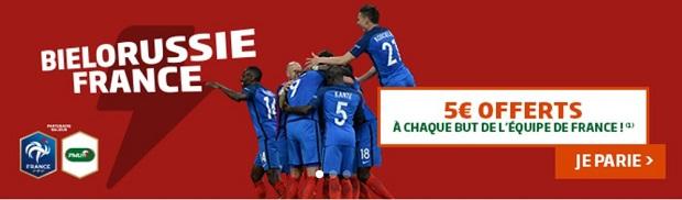 Pronostiquez le match Biélorussie-France du 6 septembre 2016 sur PMU