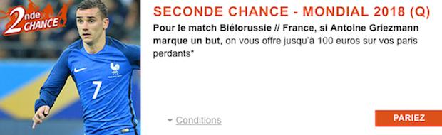 PMU seconde chance Biélorussie/France