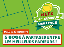 Challenge Petersbourg/Metz sur PMU du 19 au 25 septembre