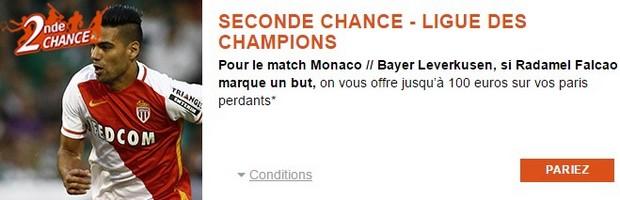 Seconde Chance PMU pour Monaco/Leverkusen en LDC