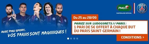Pariez sur Ludogorets-PSG avec PMU.fr