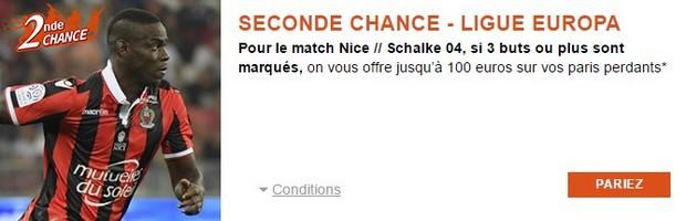 Pariez sur Nice/Schalke 04 avec PMU.fr