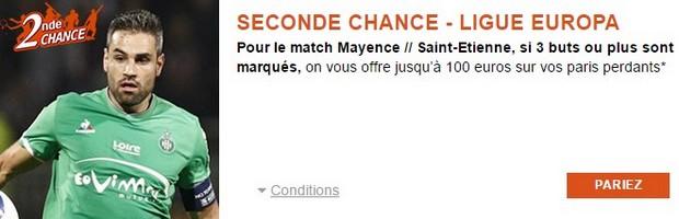 Seconde Chance pour Saint-Etienne/Mayence sur PMU