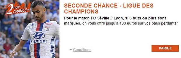 Seconde Chance PMU sur FC Séville/Lyon