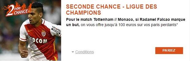 Bénéficiez de 100 euros remboursés sur Tottenham/Monaco avec PMU