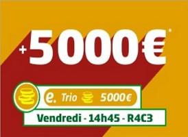 Profitez de 5.000 € de boost sur vos paris en e-trio à Maison Laffitte