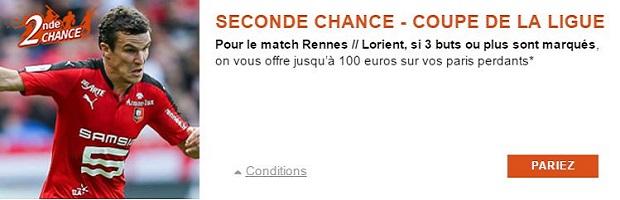 Jusqu'à 100 € de cashback avec PMU sur Rennes/Lorient