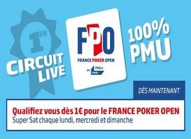 Le circuit France Poker Open est ouvert sur PMU