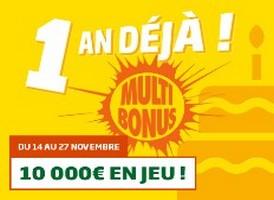 PMU vous propose une offre pour l'anniversaire des Grilles Multi Bonus