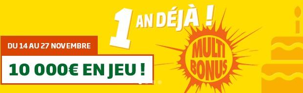 10.000€ en jeu avec les Grilles Multi Bonus de PMU
