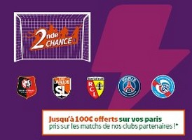 Jusqu'à 100€ offerts sur les matchs des clubs partenaires de PMU
