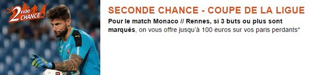 Misez sur AS Monaco- Stade Rennais avec PMU en seconde chance