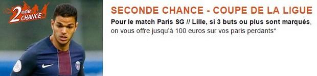 Pariez en seconde chance sur PSG/Lille avec PMU