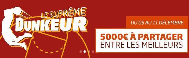 Challenge NBA Le Suprême Dunker sur PMU.fr
