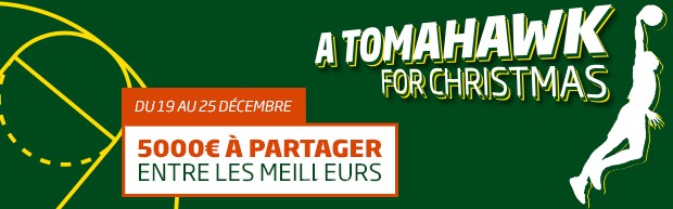 Le Challenge NBA Tomahawk for Christmas sur PMU.fr