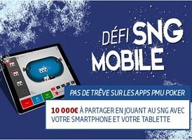 Tentez votre chance au Défi SNG Mobile de PMU entre le 17 et le 30 décembre