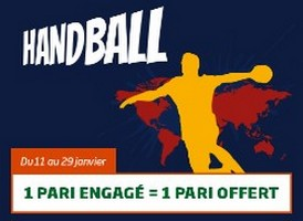 5€ offerts par jour par PMU sur le Mondial de handball